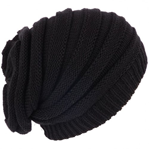 Rasta Baggy Beanie Hat Long Black Ribbed Slouch Style Marley Reggae Hat  fits up to Adult Large. - Buy Online in Oman.  e803f8e9b27