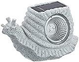 Best Season 477-27 Schnecke - Caracol de piedra para jardín con luz LED solar