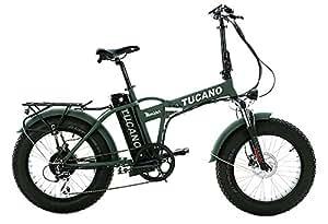 Tucano Bikes - Vélo électrique pliable «Monster 20»  (moteur 500W, suspension avant, vitesse maximale 33km/h, écran LCD,freins hydrauliques),  Vert mat