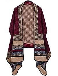 b8980feaca6e SAFZES Schal Schal Frauen 2018 Herbst Winter Poncho Vintage Decke Lady Knit  Schal Cape Classic Plaid