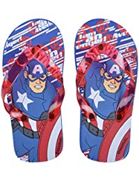 Kids Captain America Flip Flops Boys Summer Sandals Marvel Shoes UK Size 11-11.5