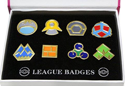 sh Gym Badge Gen 1-6 Badge Collection Box Set von 8 Stück 2017 ()