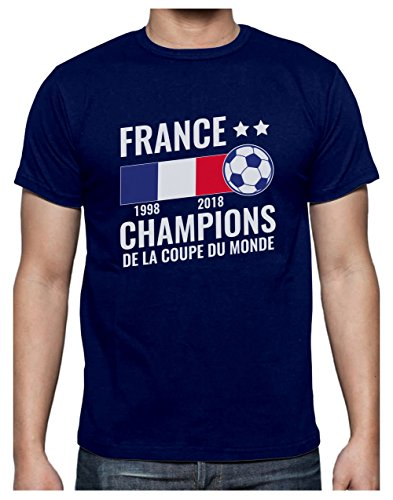 France - Champions Coupe du Monde de Football 2018 T-Shirt Homme ... 9658e9f6a0f9