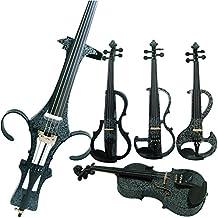 Aliyes legno elettrico completo per violino 4/4Advanced intermedio elettrico silenzioso violino (Art fiori bianchi) (alkit-006), ALDSZA-1306