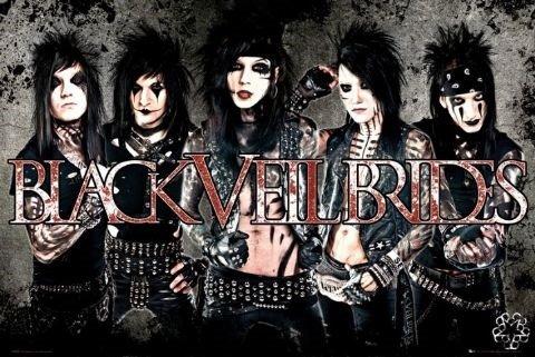 Black Veil Brides Maxi Poster, 91,5cm x 61cm Die American Glam Rock Band sind Kopf bis Fuß in schwarz Leder mit ihren kontrastierende Kiss inspiriert Make Up -