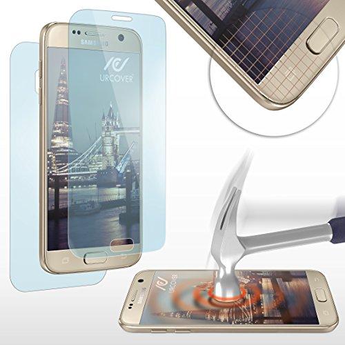 Urcover Nano Crystal 6H Anti Shock Screenprotector kompatibel mit Samsung Galaxy S7 Folie gerundete Displayfolie (KOMPLETTE Display) Schutzfolie Anti Kratzer kristallklar (Spy Nano)