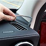 2 Stück Aluminiumlegierung Armaturenbrett Klimaanlage Lüftungsschlitz Auslass Rahmen Verkleidung Auto Zubehör