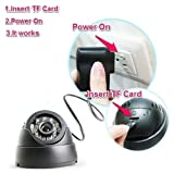 #10: CCTV Dome Camera DVR With 24 Ir Night Vision With Memory Card Slot Recording - Black