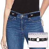 SUOSDEY Elastischer Gürtel Damen Taillen Gürtel Stretchgürtel Damen Herren Schwarz Unsichtbarer Gürtel Ohne Schnalle Für Jeans Hosen