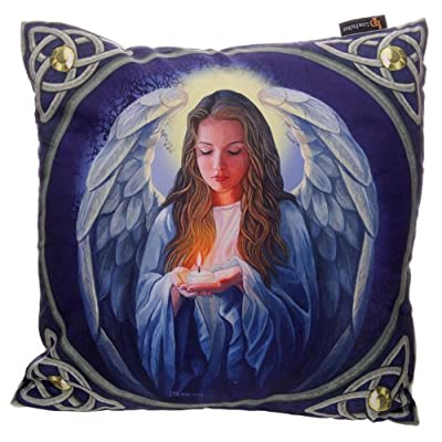 Puckator CUSH18 Lisa Parker Cushion Cover Angel with Candle 1 x 40 x 40 cm
