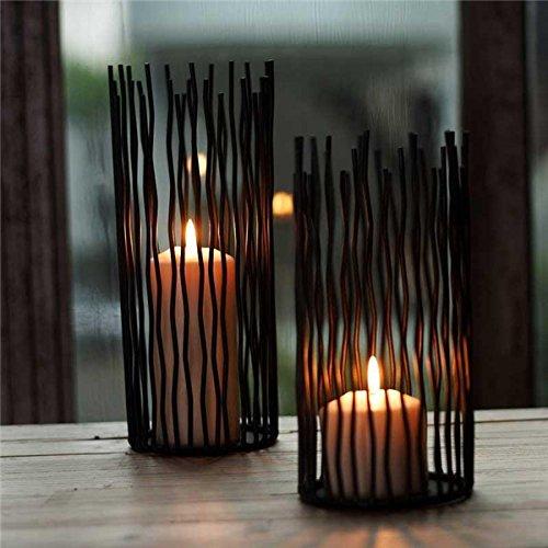 Bluelover Schwarze Wellen Luxus Eisen Kerze Halter Kerzenständer Kandelaber Kandelaber Hochzeit Dekoration -M