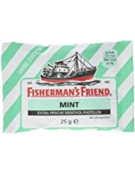 Fisherman's Friend Mint Multipack mit 3 Beuteln Minze und Menthol, 75 g