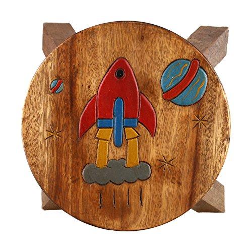art-craft-kh046-kinderhocker-holz-schemel-mit-motiv-rakete-bemalt-und-beschnitzt-hohe-27-cm