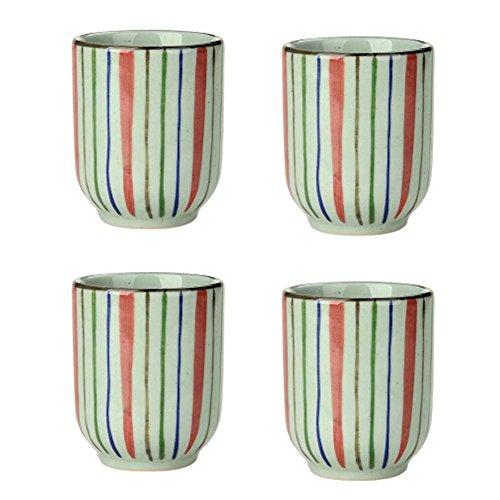 Ensemble de 4 tasses à thé en céramique style japonais Creative Teacups petites tasses à thé [E]
