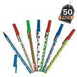 Kompanion Lot de 50 pièces de stylos de Noël, Cadeaux de Noël Parfaits, remplisseurs de Bas de Noël, cotillons, pour l'école et Le Bureau