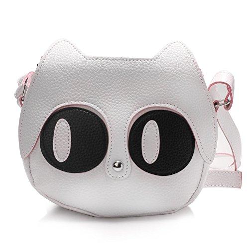 Honeymall Damen Schultertasche Damen Handtasche süße Katze Niedliche Katzen Tasche Schwarz Weiß