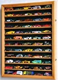 Hot Wheels Matchbox 1/64 scale Diecast Display Case Cabinet Wall Rack w/UV Protection -Oak by sfDisplay.com, Factory Direct Display Cases