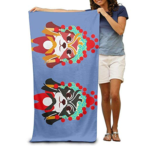 Ewtretr Strandtücher Lovely Peking Opera Dog Adult Beach Towels Fast/Quick Dry Machine Washable Lightweight Absorbent Plush Multipurpose Use Quality Towels for Swim,Pool,Beach,Gym,Camping,Yoga
