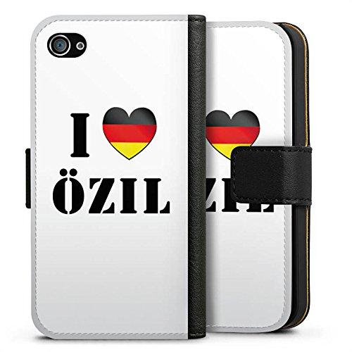 Apple iPhone X Silikon Hülle Case Schutzhülle Mesut Özil Fußball Deutschland Sideflip Tasche schwarz