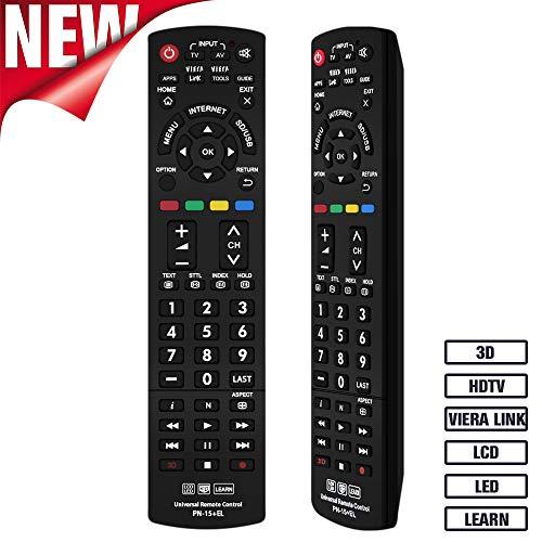 Grock Universal-Fernbedienung pn-15 Kompatibler Ersatz für PANASONIC TV/VIERA Link/HDTV/3D/LCD/LED, geltenden n2qayb000485 N2qayb000100 N2qayb000221 N2qayb00048 Panasonic-hdtv-lcd