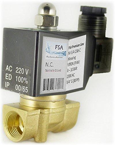 Magnetventil FSA Premium Line 2/2 Wege Messing G3/8