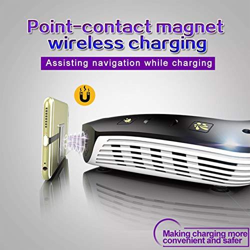 Jasnyfall Auto Ladegerät USB Autoadapter Ladegerät XG-601 Solar Smart Auto Luftreiniger Diffusor Anion Luftbefeuchter Wireless Charger-schwarz