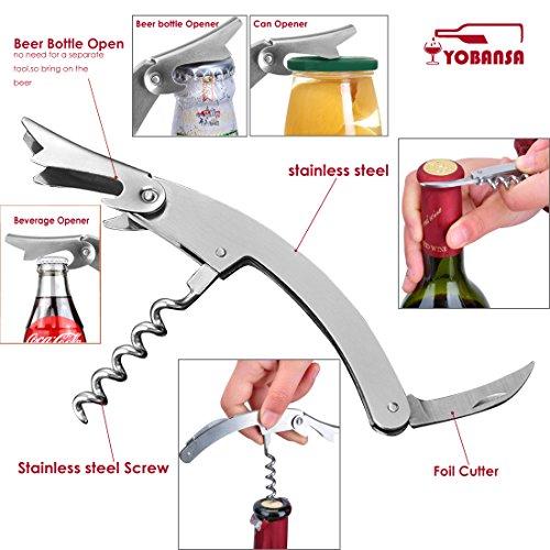 yobansa roble barril de vino sacacorchos, abridor de vino Set, Accesorios de vino Set de 5piezas OakBarrel SS - 5