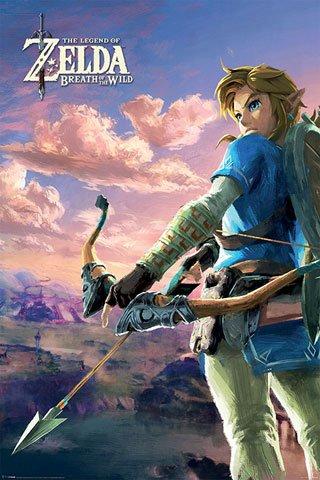 Preisvergleich Produktbild The Legend of Zelda - Breath of the Wild - Hyrule Scene Landscape - Videospiel Poster Plakat Druck - Größe 61x91, 5 cm + 1 Ü-Poster der Grösse 61x91, 5cm