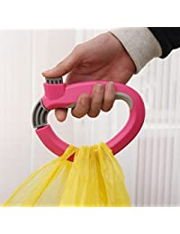 Grocery Bag Holder, Kolorfish Innovative Super-handy Snap Hook Hanger / Shopping Grocery Bag Holder ( Hot Pink )