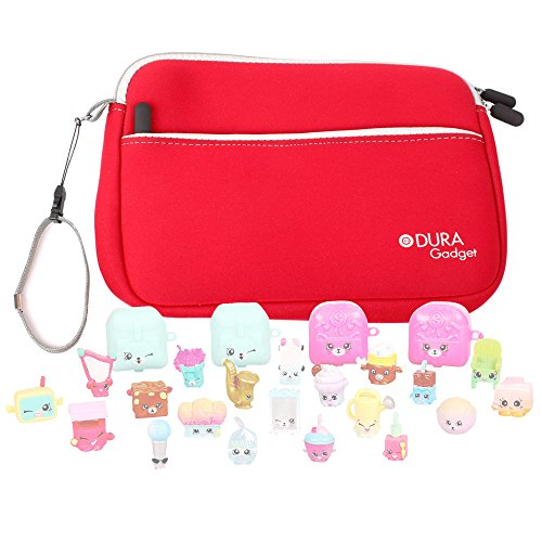 Price comparison product image Red Neoprene Case Cover with Front Storage Pocket for the Shopkins S5 Mega Pack - by DURAGADGET