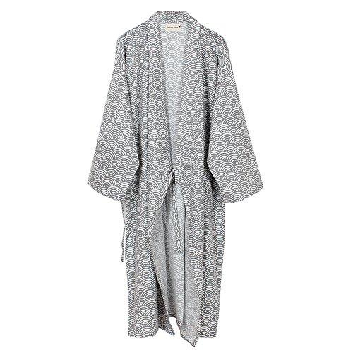 Fancy Pumpkin Herren Yukata Roben Kimono Robe Khan gedämpft Kleidung Pyjamas - [Grey Size L] -
