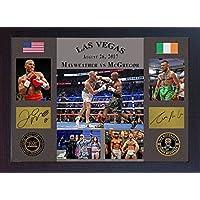 Conor McGregor VS Floyd Mayweather Jr las Vegas 2017TMT UFC MMA firmado enmarcado