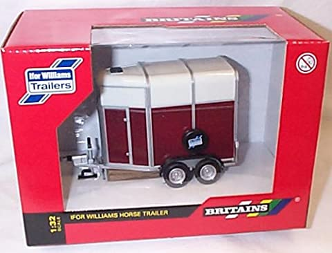 britains ifor williams horse trailer 1.32 scale diecast