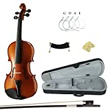 Kinglos PJBJ-2001 3/4 Solid Wood Student Acoustic Violin Fiddle Starter Kit
