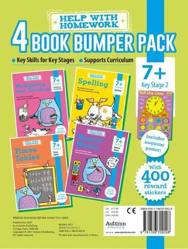 7+ Pack - Maths, Multiplying and Dividing, Spelling & Times Tables (Essential Workbooks Pack 7+)