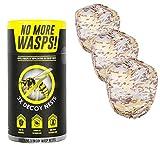 Luigi's Il miglior Repellente Naturale Set di 3 nidi di vespe Artificiali, Colore: Marrone, Beige