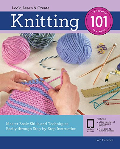Knitting 101:Master Basic Skills and Techniques Easily Through Step-by-Step Instruction (English Edition) -