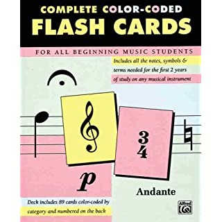 Complete Color Coded Flash Cards for All Beginning Music Students by Alfred Publishing (1996) Cards