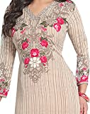 Ishin French Crepe Grey & Pink Printed Unstitched Dress Material (Grey)