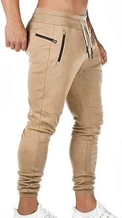 Pantaloni Sportivi da Uomo Pantaloni da Jogging Sportivo Fitness Pantaloni di Tuta Slim Fit Pantaloni per Il Tempo Libero Palestra Elastico Vita Cordino