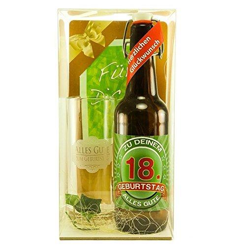 Bier Geschenk zum 18.Geburtstag Geburtstagsgeschenk achtzehnter Geburtstag