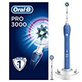 Oral-B Pro 3000 CrossAction Electric Rechargeable Toothbrush Powered by Braun – Ships with a UK 2 pin plug