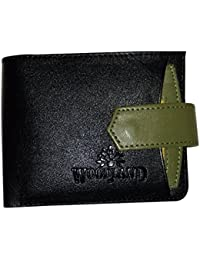 Woodland Leather Wallet For Men & Boys –Black Coloured With Push Button Lock