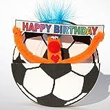 Pop Up 3D Geburtstag ZZ Design Grußkarte PopShot Happy Birthday Fußball 16x16cm