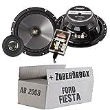 Lautsprecher Boxen Spectron SP-N26C | 16cm 2-Wege System Auto Einbauzubehör - Einbauset für Ford Fiesta MK7 Front Heck - JUST SOUND best choice for caraudio