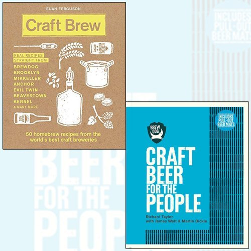 BrewDog,Craft Brew 2 Books Collection Set - Craft Beer for the People,50 homebrew recipes from the world's best craft breweries