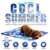 Dog Cooling Mat Large, Durable Pet Cool Mat Non-Toxic Cool Bed Ice Gel Cooling Pad, Great for Dogs Cats in Hot Summer,Ideal for Home & Travel & Cars (50*90cm)