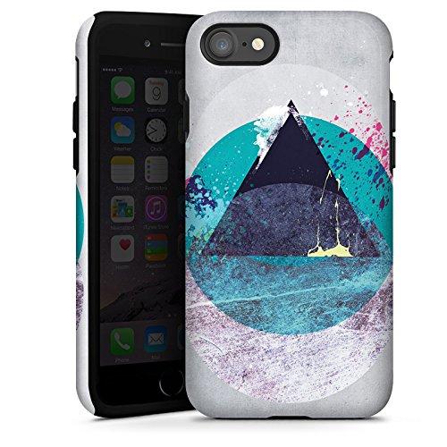 Apple iPhone X Silikon Hülle Case Schutzhülle Kreis Dreieck Klecks Tough Case glänzend
