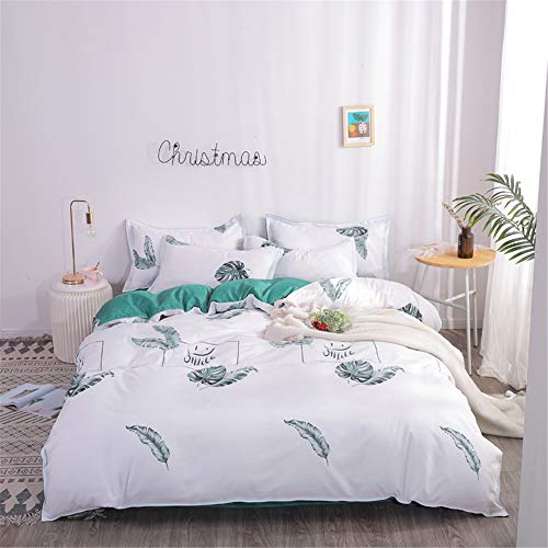 SHJIA Double Bettbezug Quilt Minimalismus Polyester Reaktivdruck Geometric Duvet A 150x200cm -