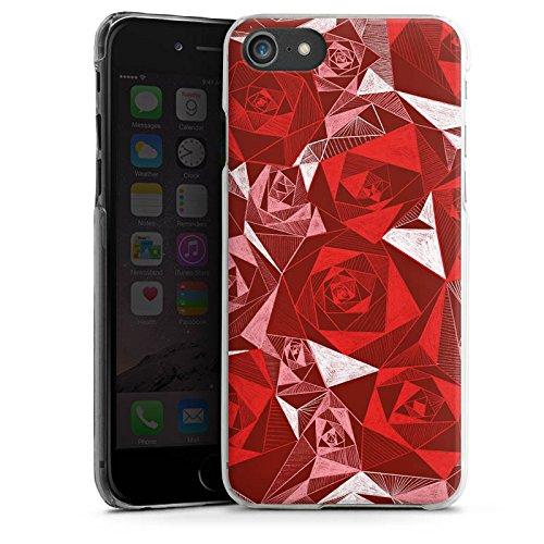 Apple iPhone X Silikon Hülle Case Schutzhülle Rot Rose Rosen Hard Case transparent